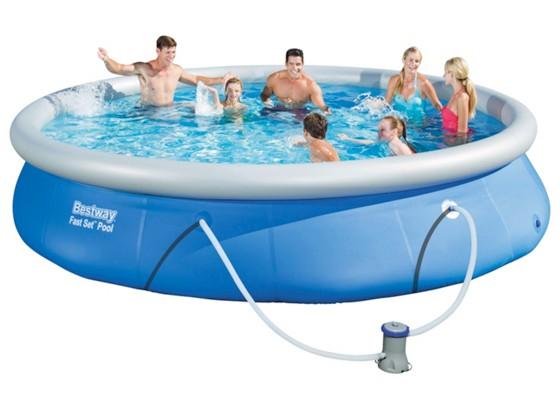 Bestway fast set pool 57313 pools planschbecken for Pool baumarkt