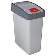 Abfalleimer Magne 25 Liter - Silberfarben, KONVENTIONELL, Kunststoff (39,5/24/47,5cm)