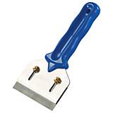 Abscherspachtel 10cm Klingenbreite - Blau/Silberfarben, KONVENTIONELL, Kunststoff/Metall (17cm) - GEBOL