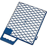 Abstreifgitter Blau - Blau, KONVENTIONELL, Kunststoff (23/27cm) - GEBOL