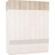Aufsatzschrank Aalen-extra - Eichefarben, KONVENTIONELL, Holzwerkstoff (181/39/54cm)