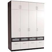 Aufsatzschrank Nagold-extra - Weiß/Grau, KONVENTIONELL, Holzwerkstoff (181/39/54cm)