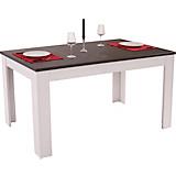 Ausziehbarer Esstisch Provence - Wengefarben/Weiß, LIFESTYLE, Holzwerkstoff (160-200/77/90cm) - JAMES WOOD