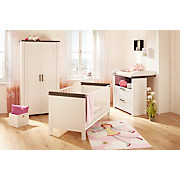 Babydrehtürenschrank Provence 96 cm Creme - Dunkelbraun/Creme, KONVENTIONELL, Holzwerkstoff (96/186,1/55cm)