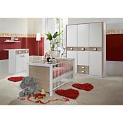 Babyzimmer Jette - Eichefarben/Weiß, MODERN, Holzwerkstoff (198/150/300cm)