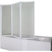 Badewannenfaltwand E1333w - Weiß, MODERN, Glas/Metall (130/121cm)