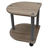 Beistelltisch Felix - Eichefarben/Grau, MODERN, Holzwerkstoff/Kunststoff (40/45/40cm)