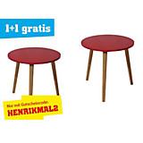 Beistelltisch Henrik Rot - Rot/Naturfarben, MODERN, Holz/Holzwerkstoff (40/39cm)