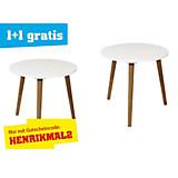 Beistelltisch Henrik Weiß - Naturfarben/Weiß, MODERN, Holz/Holzwerkstoff (40/39cm)
