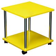 Beistelltisch Paul *ph* - Chromfarben/Gelb, MODERN, Holzwerkstoff/Kunststoff (40/41,5/40cm)