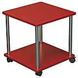 Beistelltisch Paul *ph* - Chromfarben/Rot, MODERN, Holzwerkstoff/Kunststoff (40/41,5/40cm)