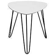 Beistelltisch Tropf - Schwarz/Weiß, MODERN, Holzwerkstoff/Metall (40/42/40cm)