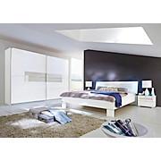 Bett Advantage 180x200 Weiß - Weiß, MODERN, Glas/Holzwerkstoff (189/88/210cm)