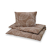 Bettwäsche Bea - Taupe, MODERN, Textil - LUCA BESSONI