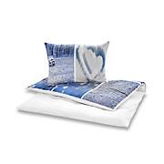 Bettwäsche Elea - Blau/Weiß, MODERN, Textil - LUCA BESSONI