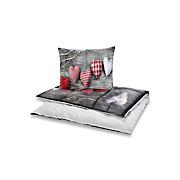 Bettwäsche Elea - Rot/Braun, MODERN, Textil - LUCA BESSONI