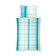 Bettwäsche Felinja - Blau/Grün, KONVENTIONELL, Textil - LUCA BESSONI