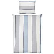 Bettwäsche Lowa - Blau/Weiß, MODERN, Textil - LUCA BESSONI