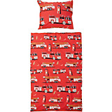 Bettwäsche Tim - Rot, KONVENTIONELL, Textil