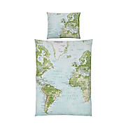 Bettwäsche World Map - Multicolor, MODERN, Textil - LUCA BESSONI
