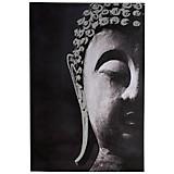 Bild Buddha - Schwarz/Weiß, KONVENTIONELL, Holz/Textil (60/90/2,5cm)