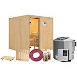 Bio-Sauna Cannes mit externer Steuerung (Kombi-Sauna) - Naturfarben, MODERN, Holz (196/198/196cm)