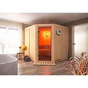 Bio-Sauna Nizza mit externer Steuerung (Kombi-Sauna) - Naturfarben, MODERN, Holz (196/198/196cm)