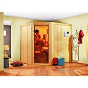 Bio-Sauna Toulon mit externer Steuerung (Kombi-Sauna) - Naturfarben, MODERN, Holz (196/198/178cm)