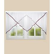 Blumenfensterstore Charlotte - Bordeaux, KONVENTIONELL, Textil (300/145cm) - OMBRA