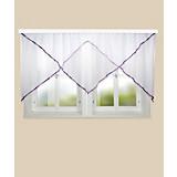 Blumenfensterstore Charlotte - Lila, KONVENTIONELL, Textil (600/145cm)