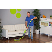 Bodenwischer Livington 3 Magic Mop - Grau/Grün, KONVENTIONELL, Kunststoff/Textil (31/135-180cm) - MEDIASHOP
