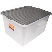Box mit Deckel Björn - Klar, KONVENTIONELL, Kunststoff (48/36/25,5cm) - PLAST 1