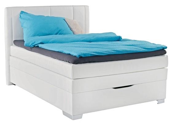 boxspring bett wei 140 200. Black Bedroom Furniture Sets. Home Design Ideas