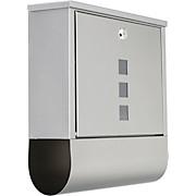 Briefkasten Jack - Silberfarben, KONVENTIONELL, Metall (31/33,5/10,5cm) - HOMEZONE