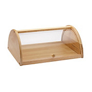 Brotbox Gaston - Klar/Transparent, KONVENTIONELL, Holz/Kunststoff (36/15/27cm) - JAMES WOOD