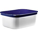 Butterdose 1740 09 - Blau/Weiß, KONVENTIONELL, Kunststoff (14/10,5/6cm) - PLAST 1