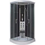 Dampf-duschkabine Relax - Chromfarben/Klar, KONVENTIONELL, Glas/Metall (90/90/215cm)