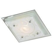 Deckenleuchte Erik - Weiß, KONVENTIONELL, Glas/Metall (33,5/33,5/8cm) - OMBRA