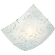 Deckenleuchte Julia - Weiß, KONVENTIONELL, Glas/Metall (25/25/8,5cm) - OMBRA