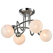 Deckenleuchte Pearl - Silberfarben, MODERN, Glas/Metall (27/19,5cm)