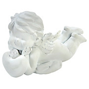 Dekoengel Kunibald - Weiß, KONVENTIONELL, Kunststoff (13/8,5/8,5cm) - OMBRA