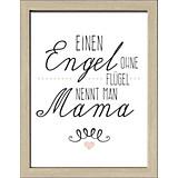 Dekopaneel Mama - Naturfarben/Weiß, MODERN, Holzwerkstoff (29/39/1,1cm)