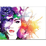 DEKOPANEEL Woman in Colors - Multicolor, MODERN, Holzwerkstoff (120/90cm)