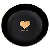Dessertteller Lilly - Goldfarben/Schwarz, Keramik (20cm) - JAMES WOOD