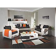 Dreisitzer Faro - Chromfarben/Beige, KONVENTIONELL, Holz/Textil (225/90/92cm)