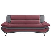 Dreisitzer-sofa Atlantis - Chromfarben/Bordeaux, MODERN, Textil (198/81/89cm)