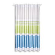 Duschvorhang Svenja - Blau/Weiß, MODERN, Textil (180/200cm) - LUCA BESSONI