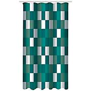 Duschvorhang Svenja - Türkis/Weiß, MODERN, Textil (180/200cm) - LUCA BESSONI