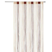Fadenstore Rita - Beige/Dunkelbraun, KONVENTIONELL, Textil (90/245cm) - LUCA BESSONI