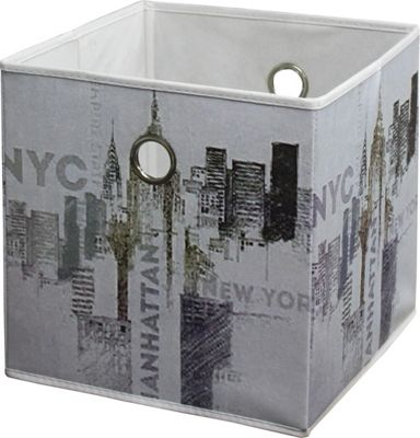 Faltbox Nyc   Multicolor, MODERN, Textil (32/32/32cm)